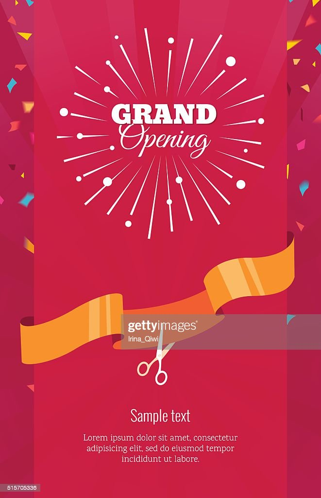 Grand opening vertical banner.