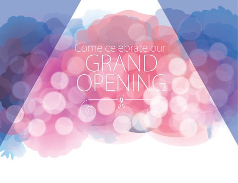 Grand opening with watercolor textured background - gettyimageskorea