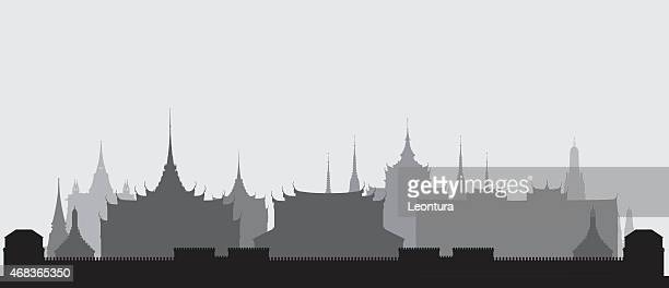 Grand Palace, Bangkok, Thailand (Detailed, Moveable Buildings)