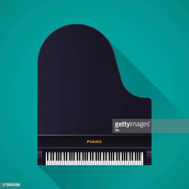 grand piano - high section stock illustrations