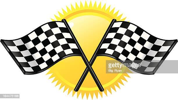 grand prix flag - street racing stock illustrations, clip art, cartoons, & icons