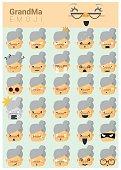 Grandma imoji icons
