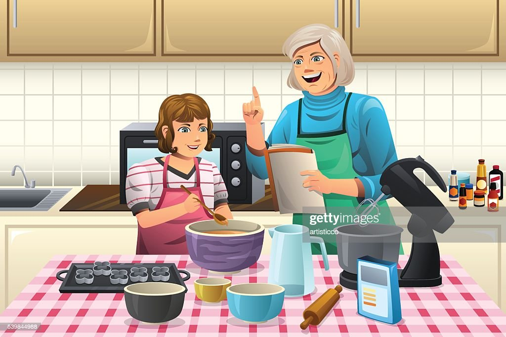Grandma Preparing Cookies