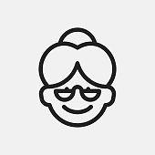Grandmother icon illustration