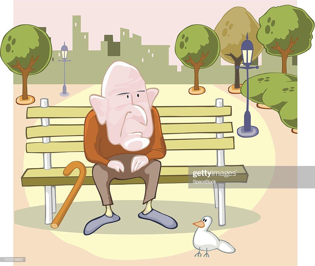 Grandpa and doves.