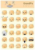 Grandpa imoji icons