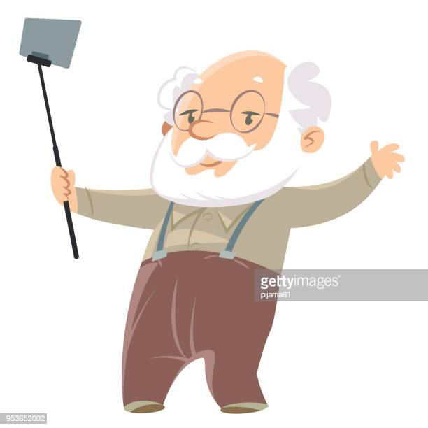 Grandparent taking selfie photo