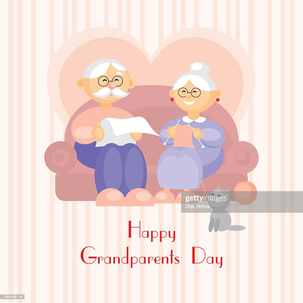 Grandparents day greeting card vector art getty images grandparents day greeting card vector art m4hsunfo