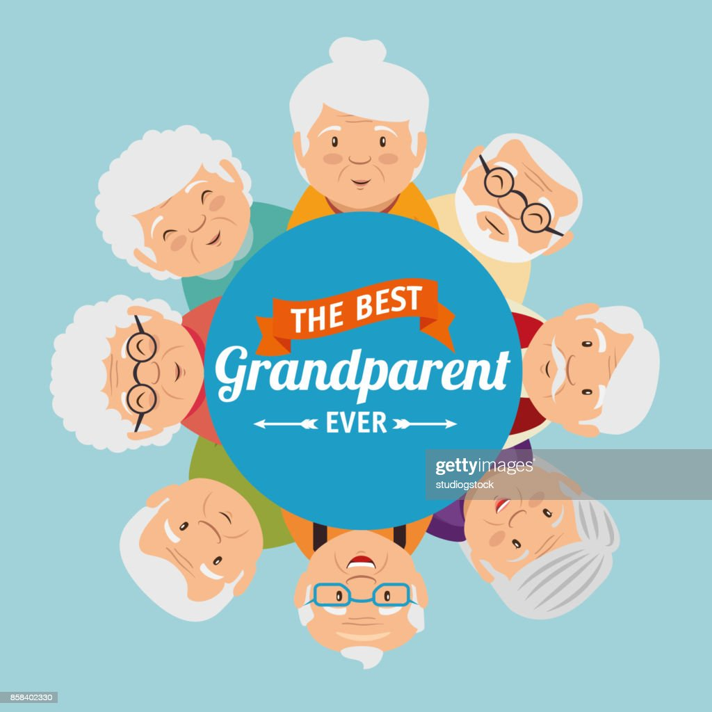 Grandparents Day Greeting Card Vector Art Getty Images
