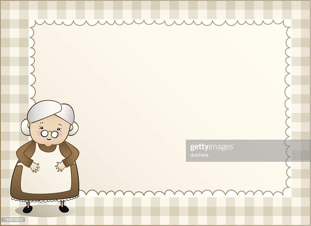 Granny gingham background left : stock illustration