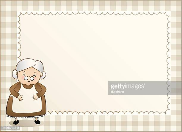 Granny gingham background left