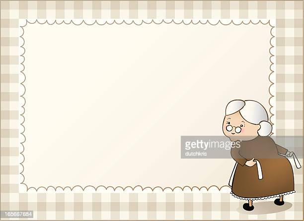 granny gingham background right - updo stock illustrations, clip art, cartoons, & icons