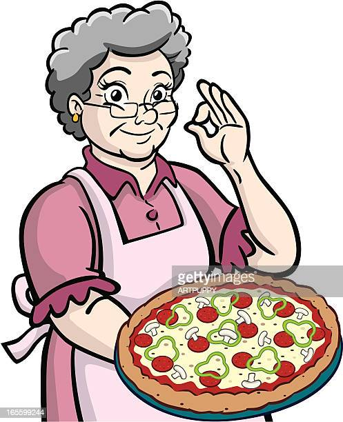 Granny With Pizza