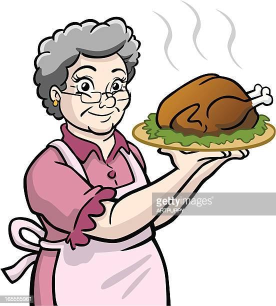 Granny With Turkey