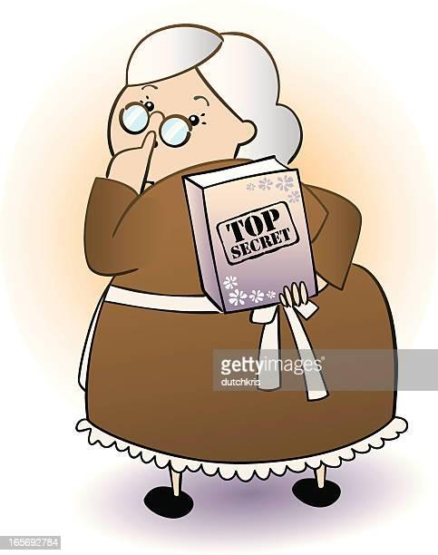 granny's secret recipes - updo stock illustrations, clip art, cartoons, & icons