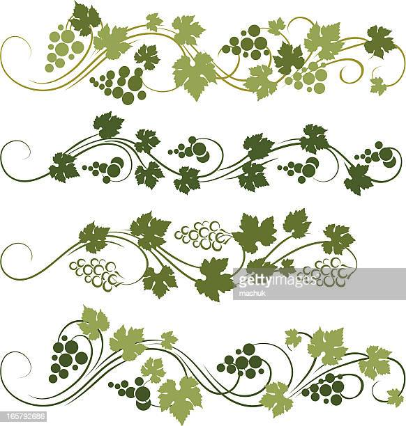 grape ornament - grape stock illustrations, clip art, cartoons, & icons