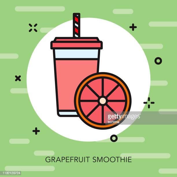 grapefruit smoothie icon - fruit juice stock illustrations, clip art, cartoons, & icons