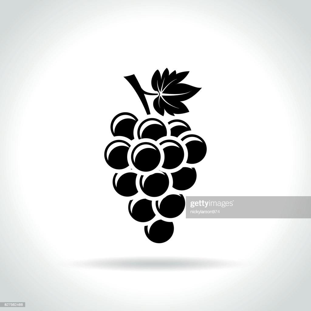 grapes icon on white background