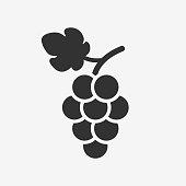 Grapes icon. Wine logo.