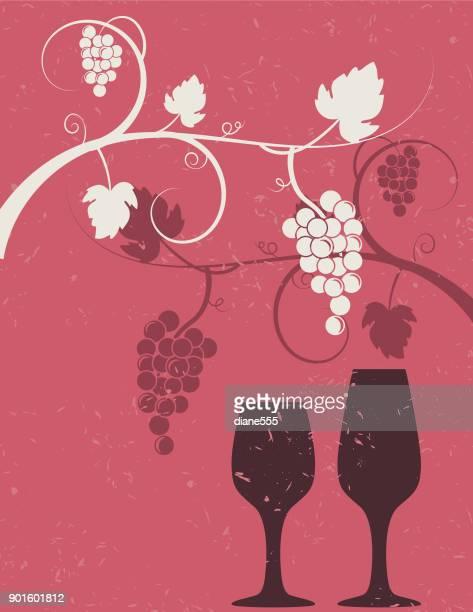Druiven wijn achtergrond