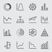 Graph and Diagram line icon 2