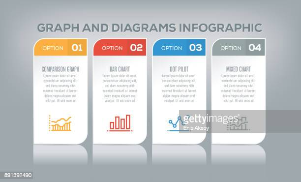 graph and diagrams infographic - comparison stock illustrations