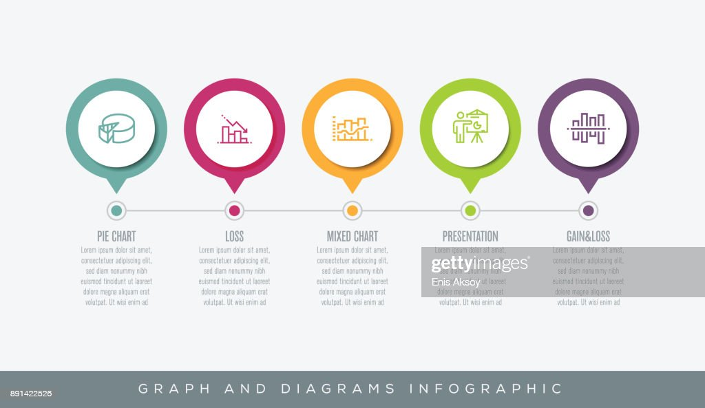 Graph and Diagrams Infographic : stock illustration