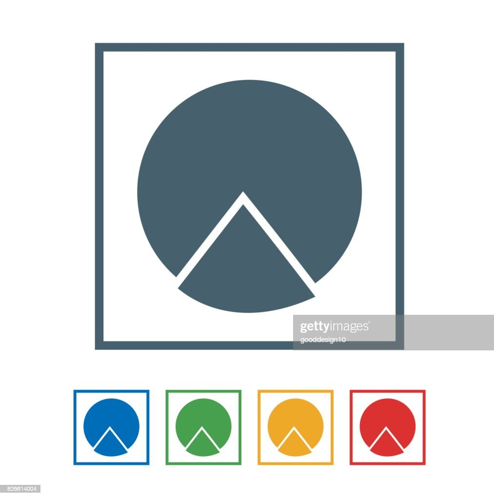 Graph chart flat  icon isolated on white background. vector illustration icon