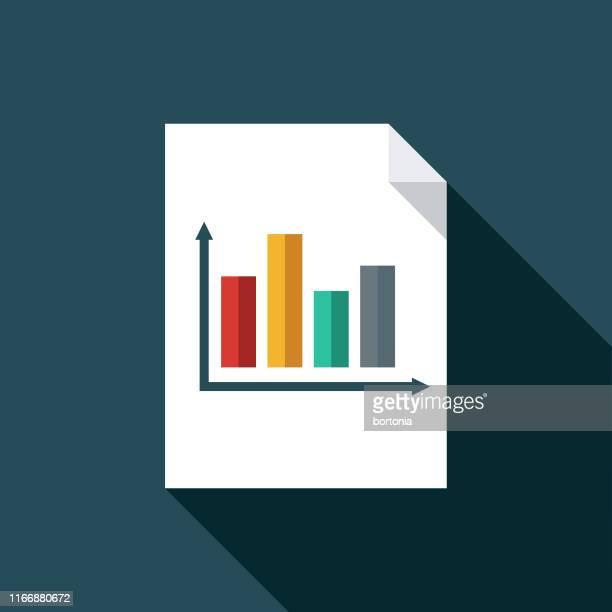illustrazioni stock, clip art, cartoni animati e icone di tendenza di icona documento grafico - rapporto finanziario
