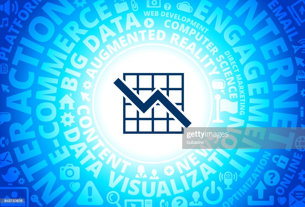 Graph Icon on Internet Modern Technology Words Background