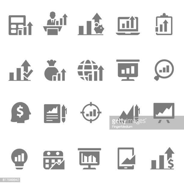 graph icon set - accountancy stock illustrations, clip art, cartoons, & icons