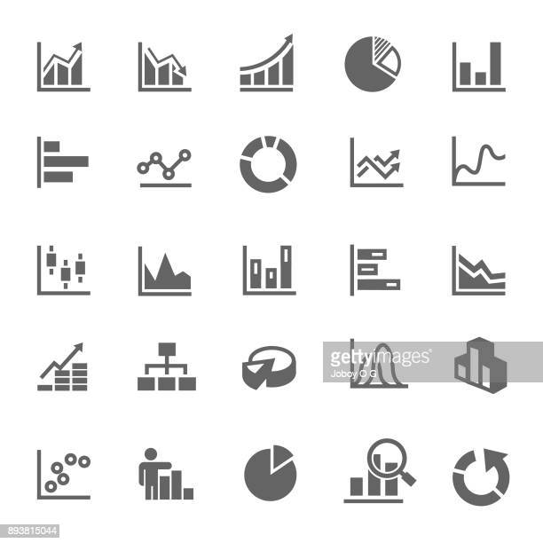 stockillustraties, clipart, cartoons en iconen met grafiek pictogram - financiën en economie