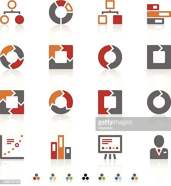 グラフアイコン - 山形模様点のイラスト素材/クリップアート素材/マンガ素材/アイコン素材