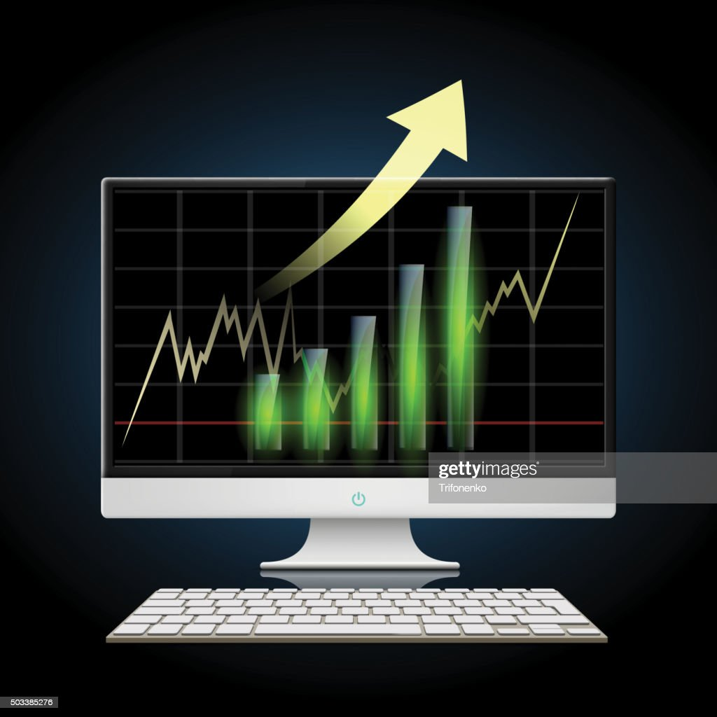 Graph of growth. Stock illustration.