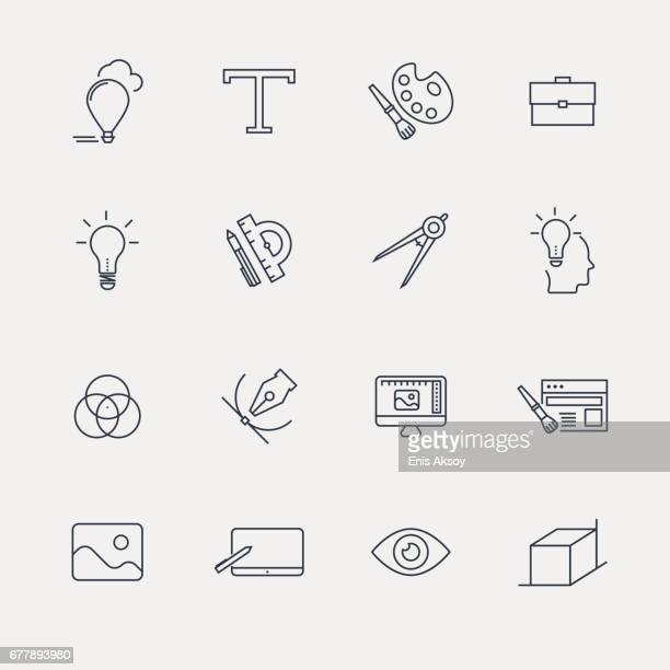 Graphic and Web Design Icon Set - Line Series