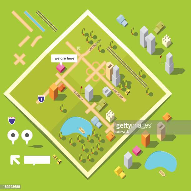 graphic art design of animated map toolkit - conversion sport stock illustrations