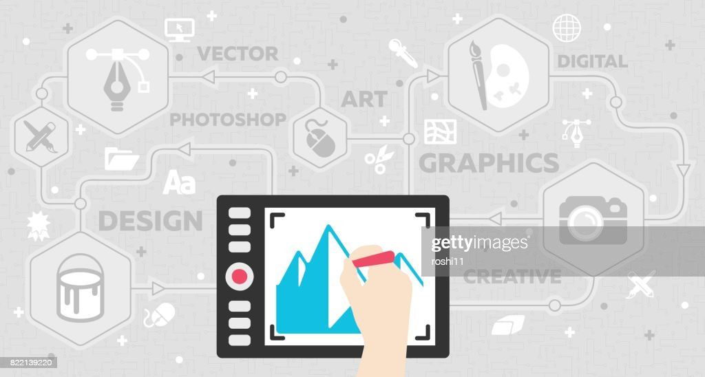 Graphic Arts Concept with Tablet