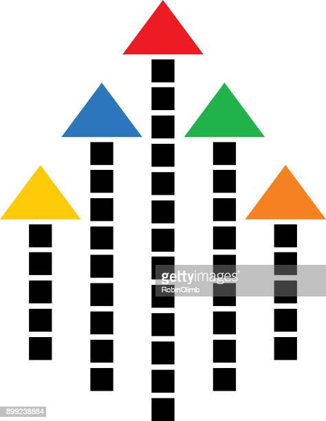 graphic dashed line arrow icon - cash flow stock illustrations, clip art, cartoons, & icons
