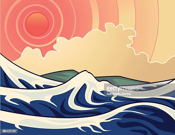 Graphic depiction of waves in the sun
