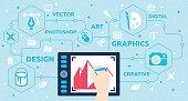 Graphic Design Concept - Designer / Artist