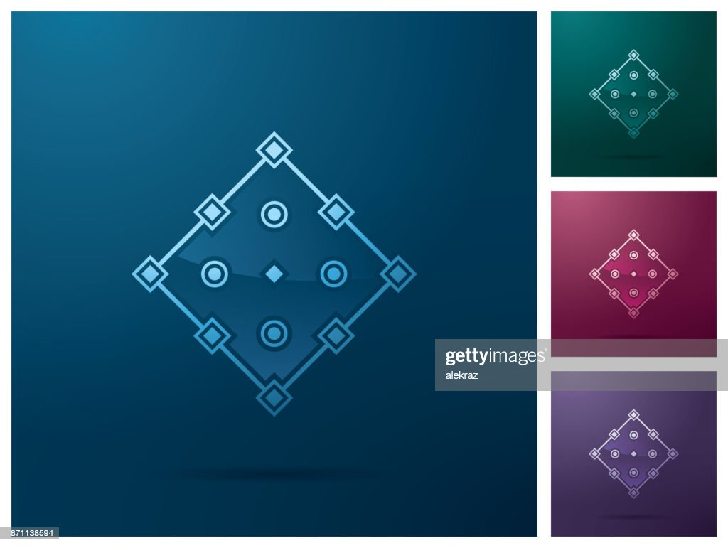 Graphic design element, square anchor point icon design