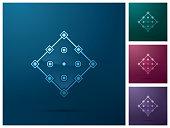 Graphic design element, square anchor point icon design