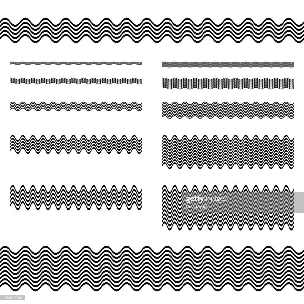 Graphic design elements - page divider line set