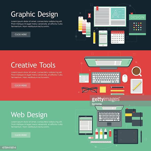 Graphic Design Flat Design Web Banners Icon Sets