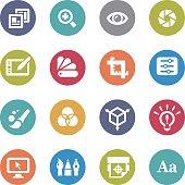 Graphic Design Icons - Circle Series