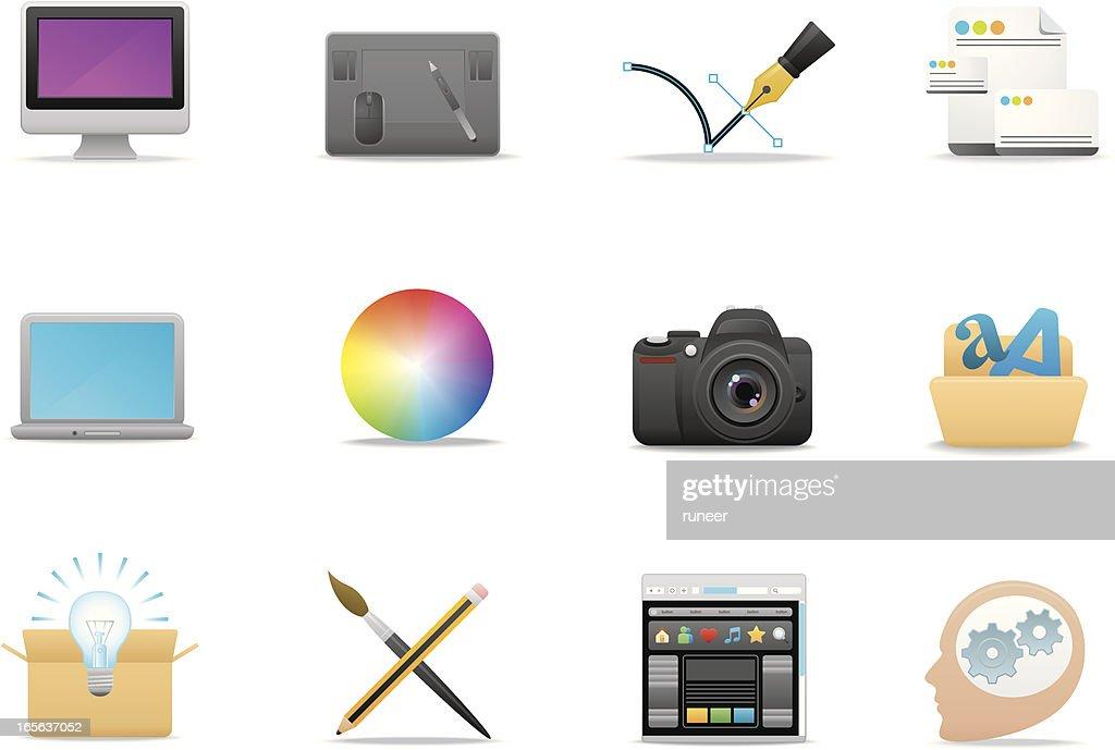 Graphic Design icons | Premium Matte series : Vector Art