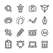 Graphic Design Icons Set - Line Series