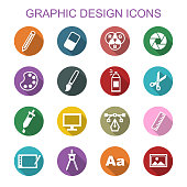 graphic design long shadow icons