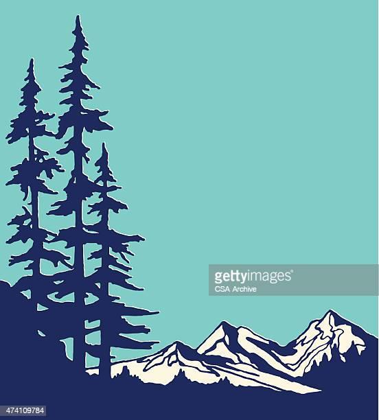 ilustraciones, imágenes clip art, dibujos animados e iconos de stock de vista a las montañas - pintura rupestre