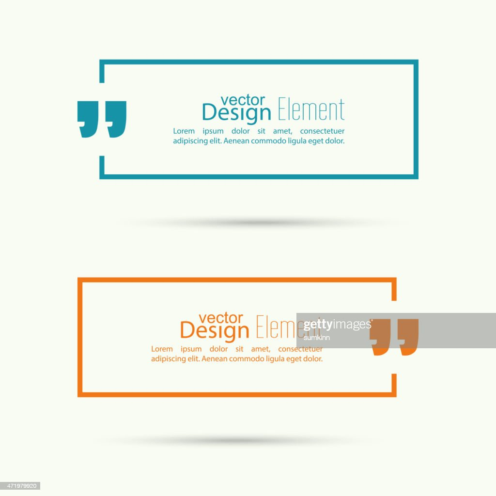 Graphic design of quote sign labels